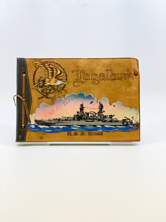image of Photo Album, USS Arizona, belonging to survivor Louis Conter, 1940/1941. From the collection of the Arizona Capitol Museum by