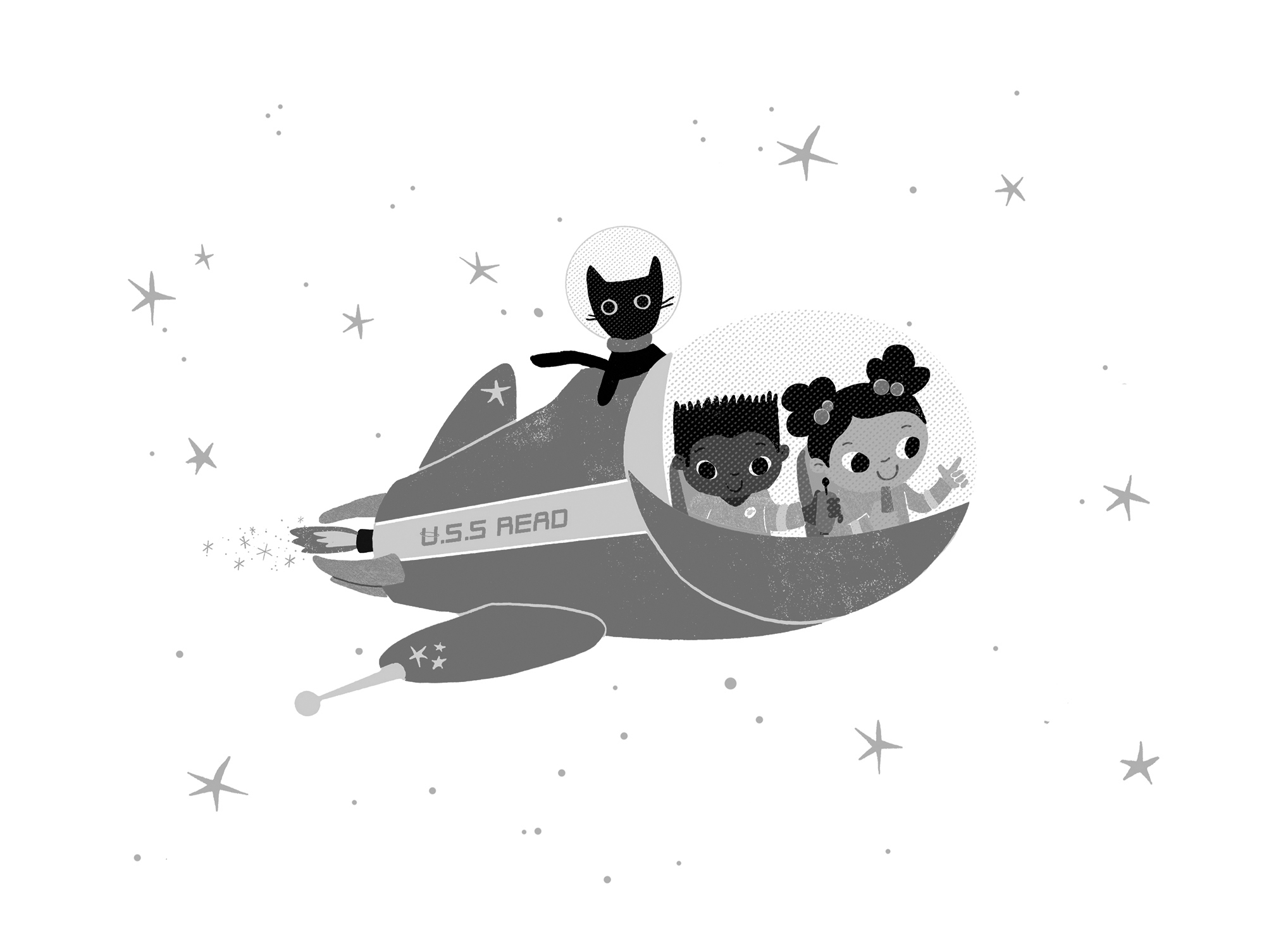 graphic of spaceship cartoon