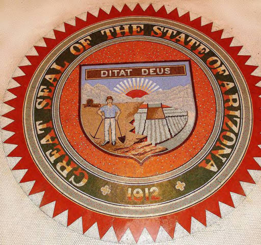 Great Seal of the State of Arizona at the Arizona Capitol Museum