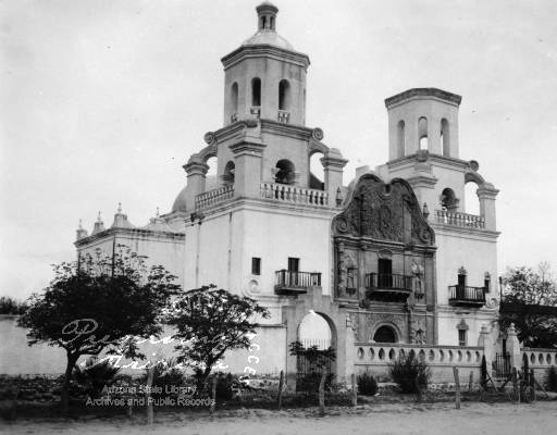 Photograph of San Xavier del Bac in Tucson