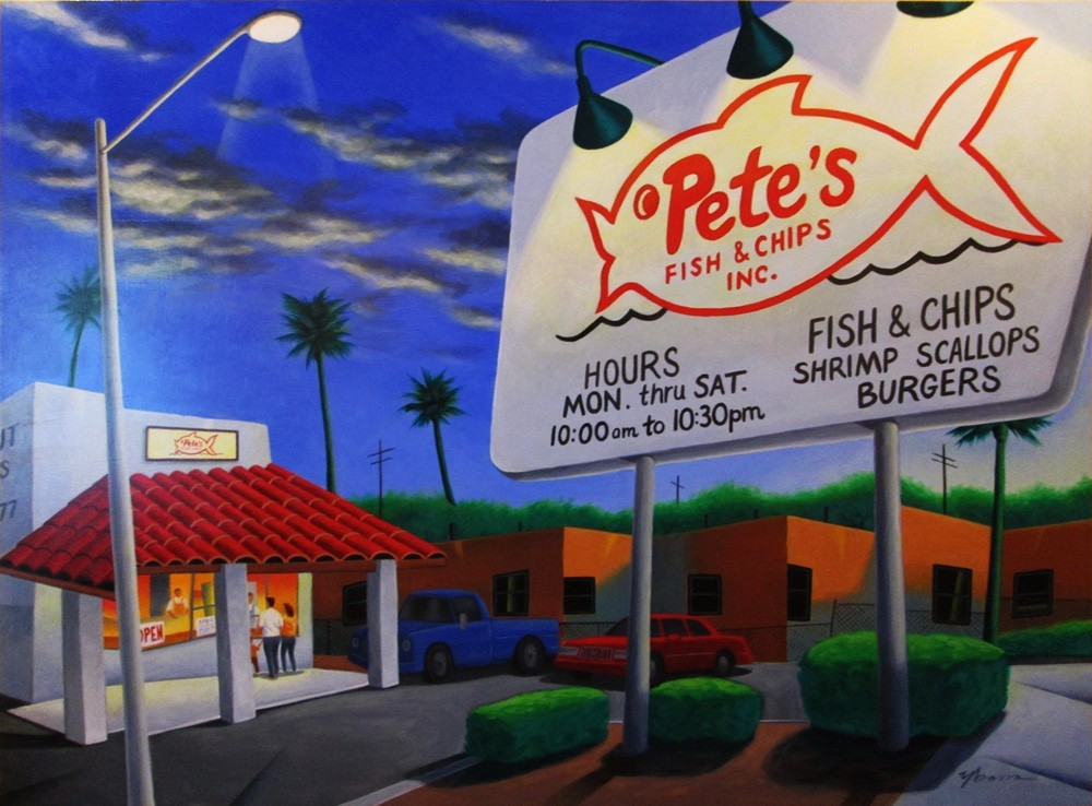 artwork image Friday Night at Pete's Fish & Chips by Frank Ybarra