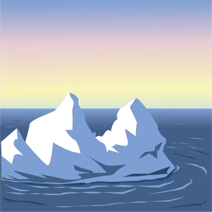 graphic of iceburg