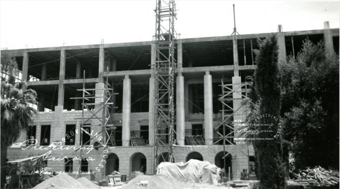 Building frame of the Arizona Capitol Museum