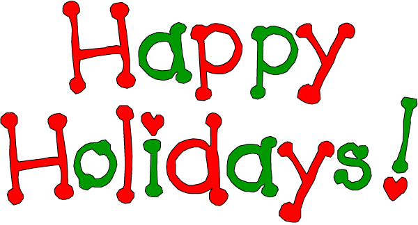 graphic of happy holidays