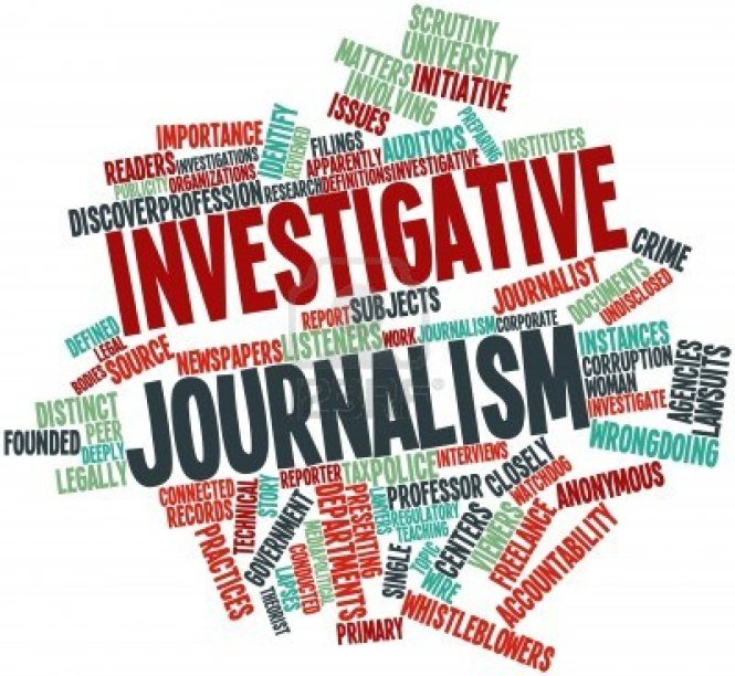graphic of investigative reporting sign