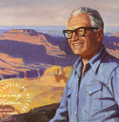 Painting of Barry Goldwater at the Grand Canyon