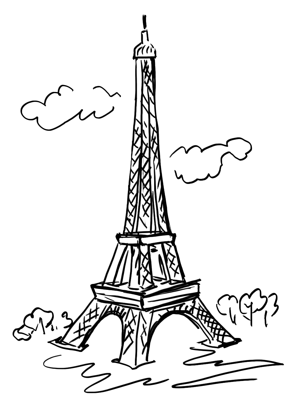 graphic of paris