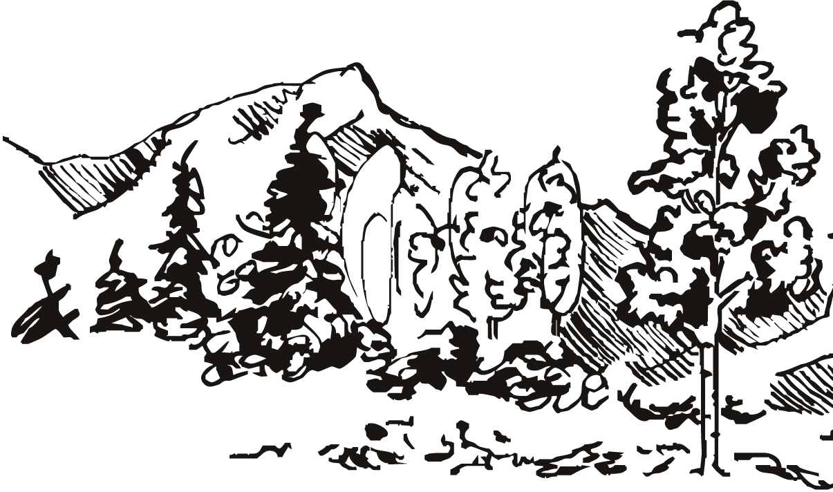 graphic of the snow mountain scene