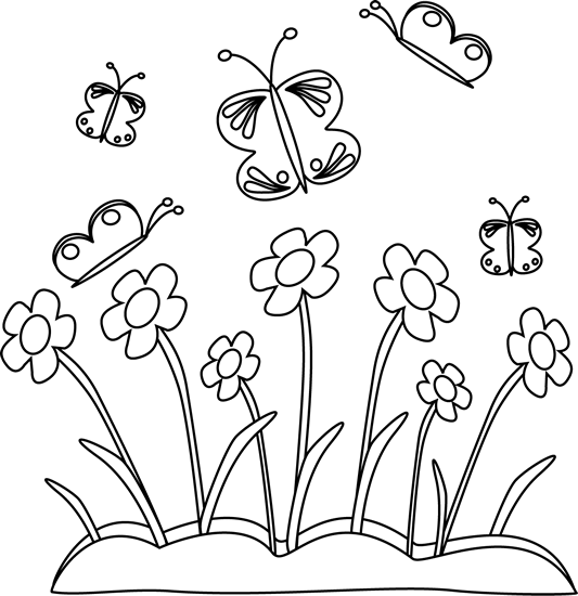 graphic of spring flowers