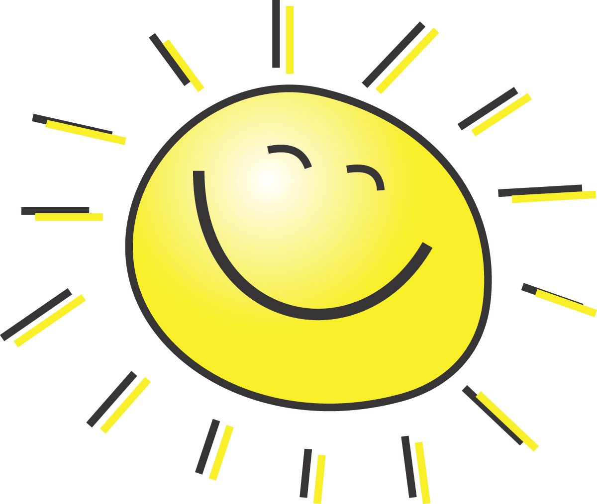 graphic of sunshine smiling