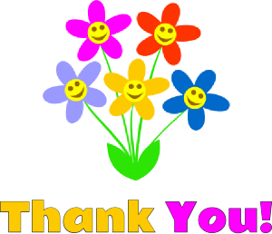 graphic of thank you