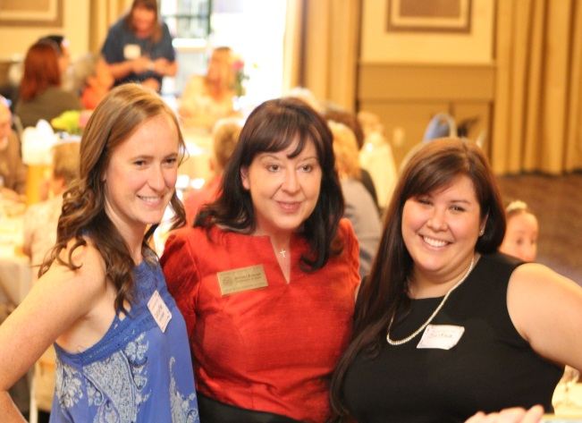 photo of Friends Board members Caitlin Fine (left) and Jordan Bublik (right) with Secretary of State Michele Reagan