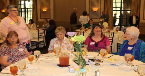 picture of Kim Goodin, Christine Tuttle (standing), Joyce Bothun, Patti Pace, Marilyn Bedell