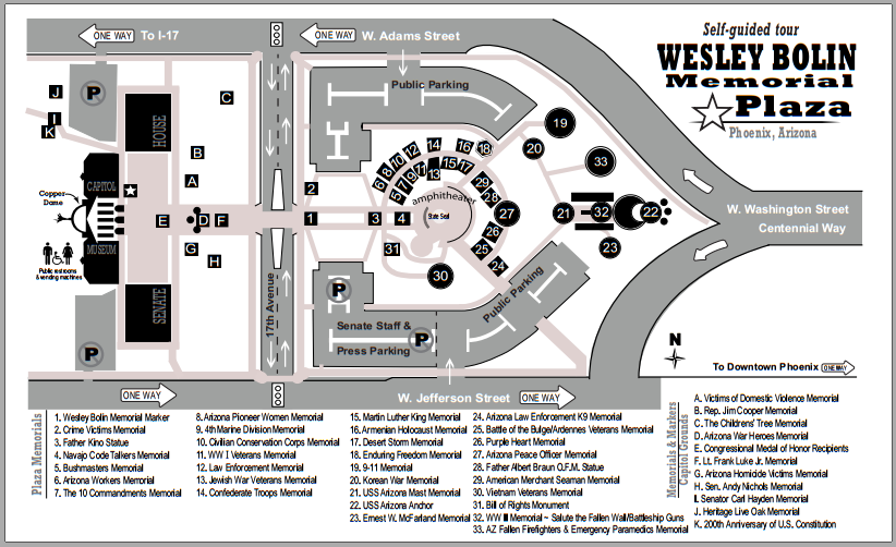 Wesley Bolin Memorial Plaza map